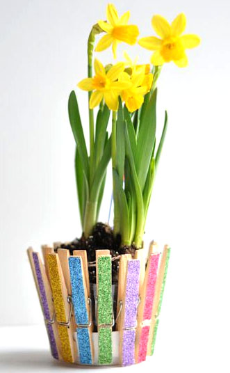 Spring Clothespin Planter Picture