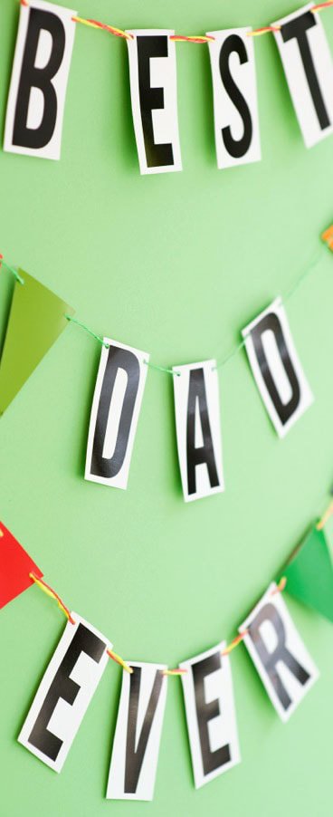 Father's Day Garland Picture