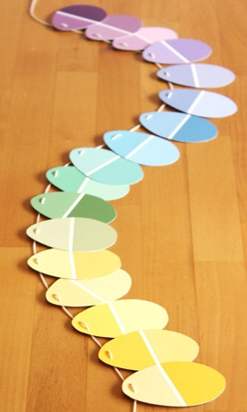 Paint Chip Easter Garland Picture
