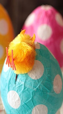 Paper Mache Easter Eggs Picture