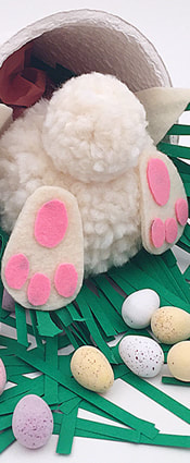 Do It Yourself Easter Bunny Pompom Picture