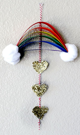 St Patrick's Day Rainbow Dangler Picture