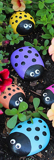 Ladybug Painted Rocks Picture