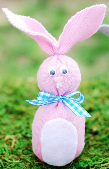 Easter Sock Bunny Picture