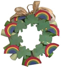 St. Patrick's Day Toilet Paper Wreath Picture