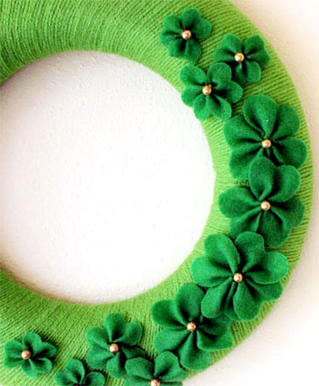 St. Patrick's Day Yarn Wreath Picture