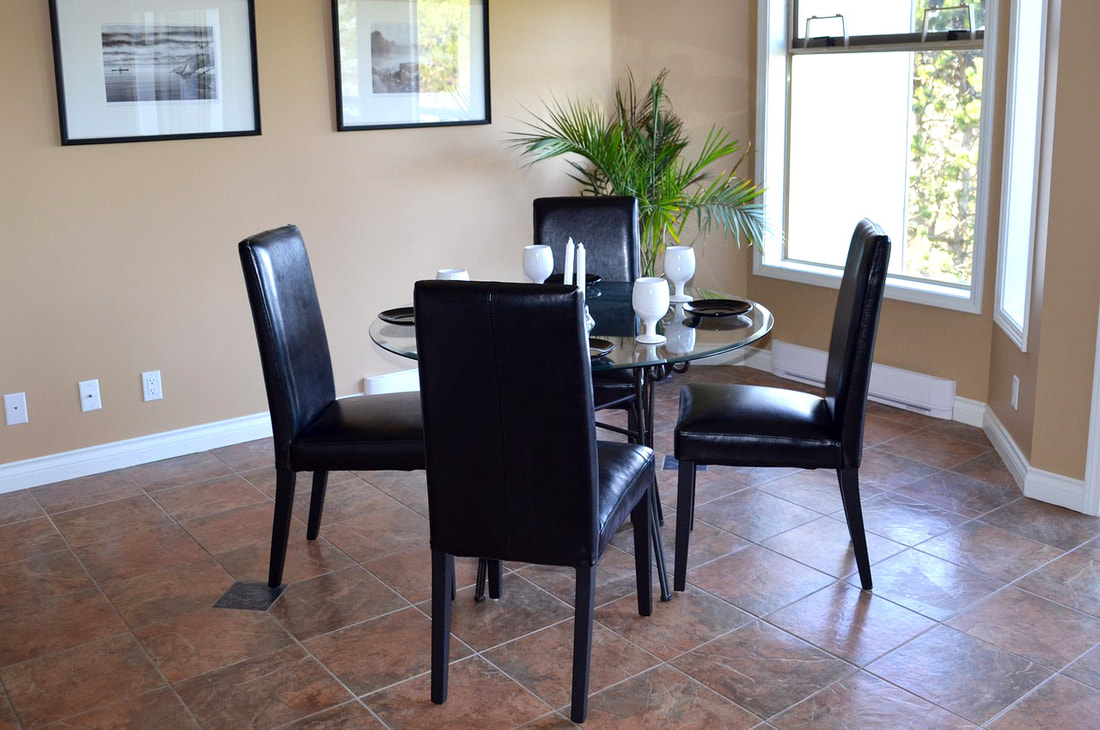 Dining Room Flooring, Lighting, and Ableware Banner Picture