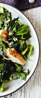 Winter Recipes - Mackerel and Super Greens & Yoghurt Dressing Picture