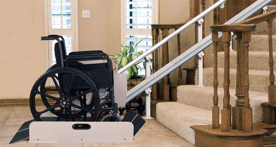 Inclined Wheelchair Lift Picture