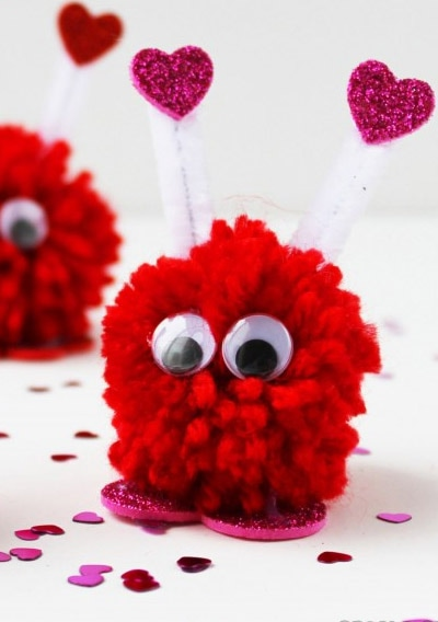 Valentines Pompom Critters Picture
