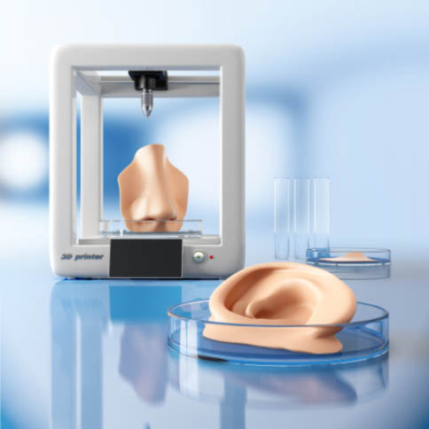3D Printing Nose & Ear Sample Picture