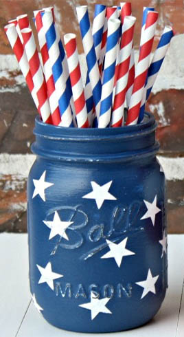 4th of July Utensil Holders Picture