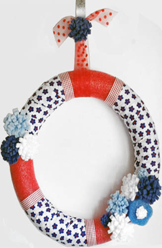 Fourth of July Pool Noodle Wreath Picture